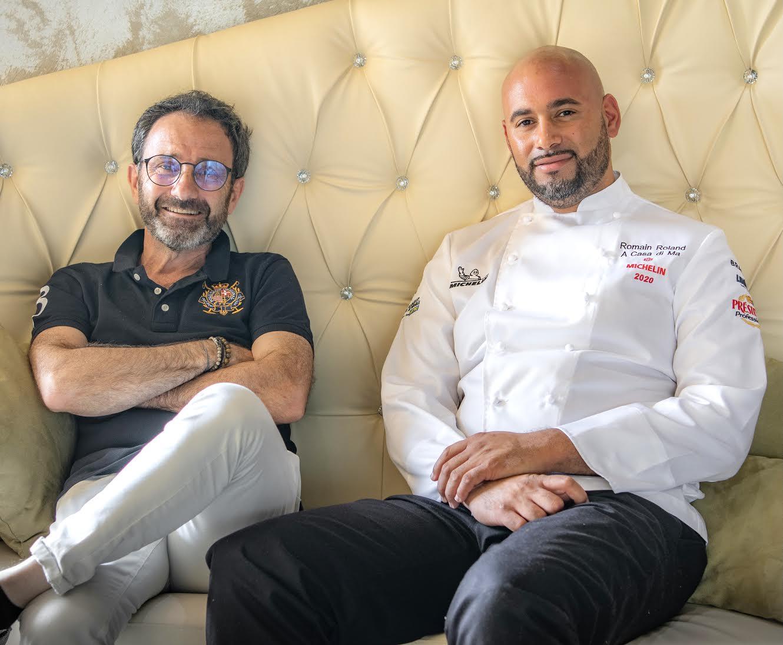 Joseph Fondacci et le chef Romain Roland de A Casa di Ma à Lumiu : satisfaits !