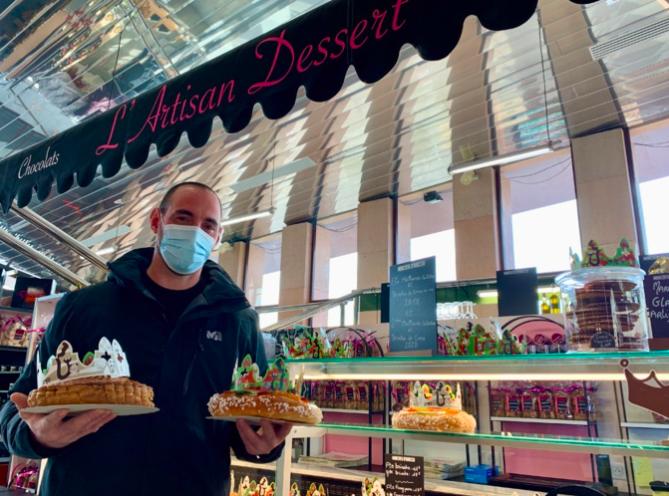 Antoine Cecchi de l'Artisan Dessert reversera l'intégralité des bénéfices issus de la vente des 200 galettes des Rois à l'association Inseme (Photo Ville d'Ajaccio).