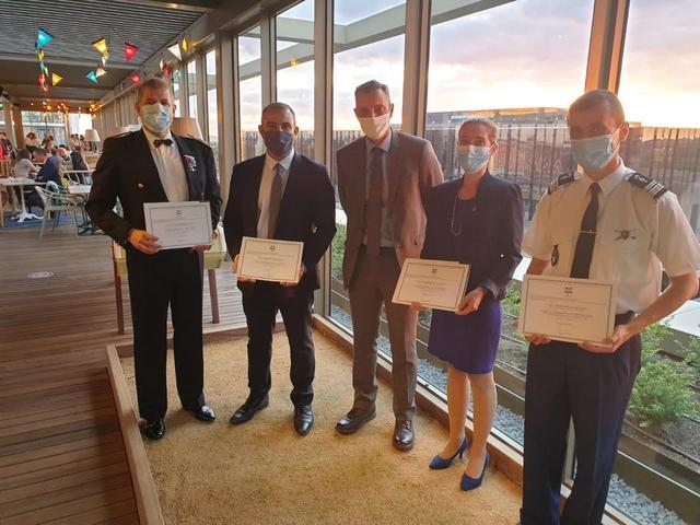 De gauche à droite: Jean-Marc Babut, Sébastien Albertini, Alexandre Fouchard, Émeline Luciani et Etienne Riethmuller