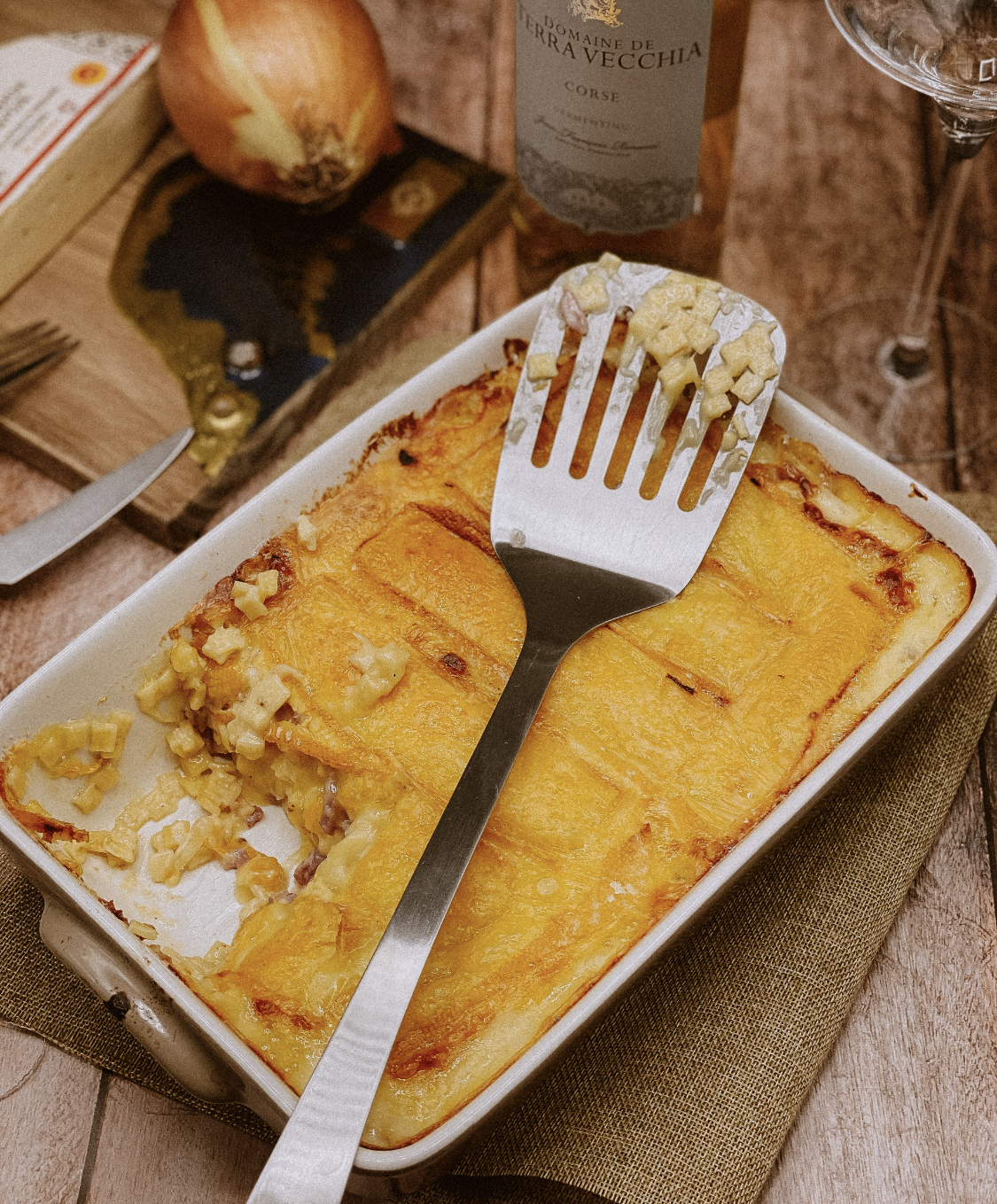 A table : croziflette avec...la petite cuisine de Marie