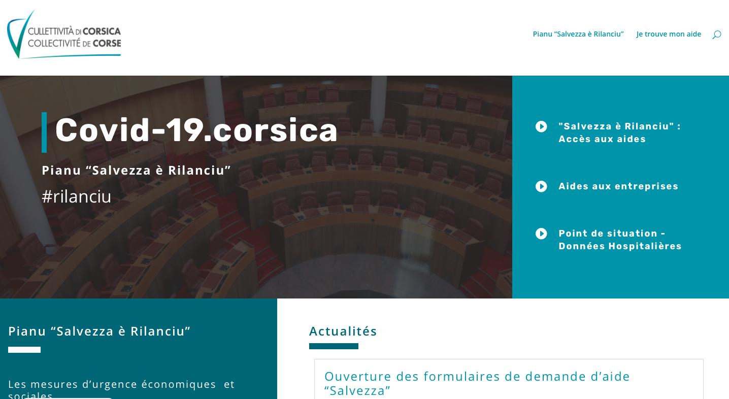 Capture d'écran du site