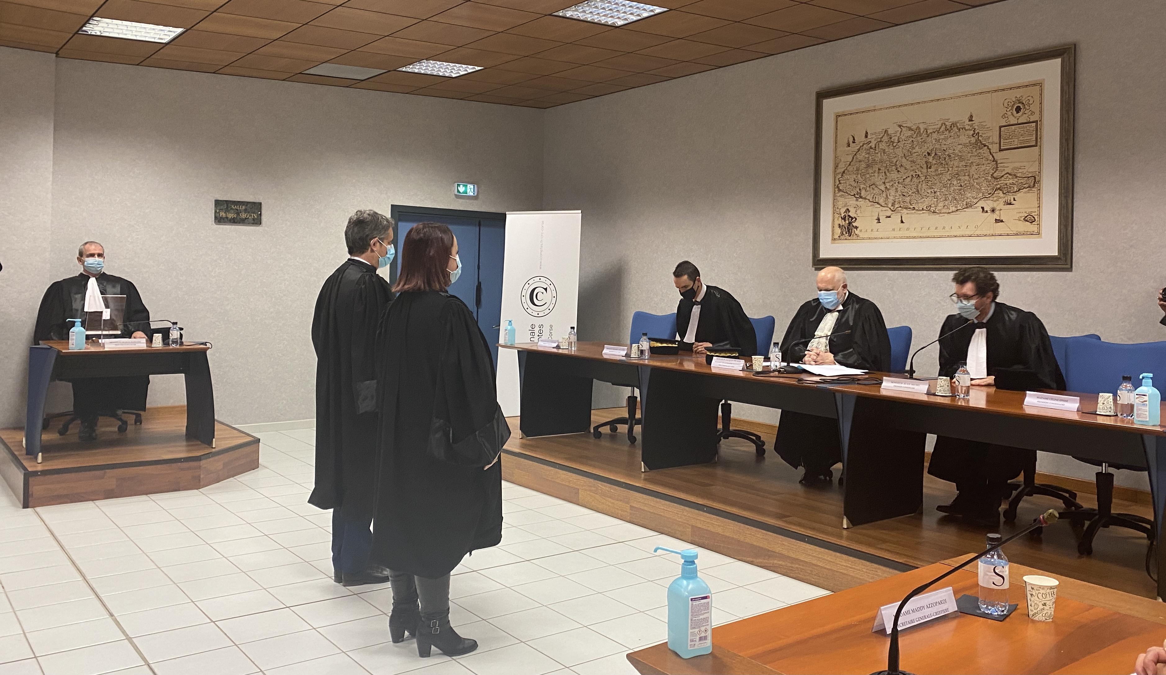 Céline Episse et Gérald Arbeltier prêtent serment à la CRC de Corse.