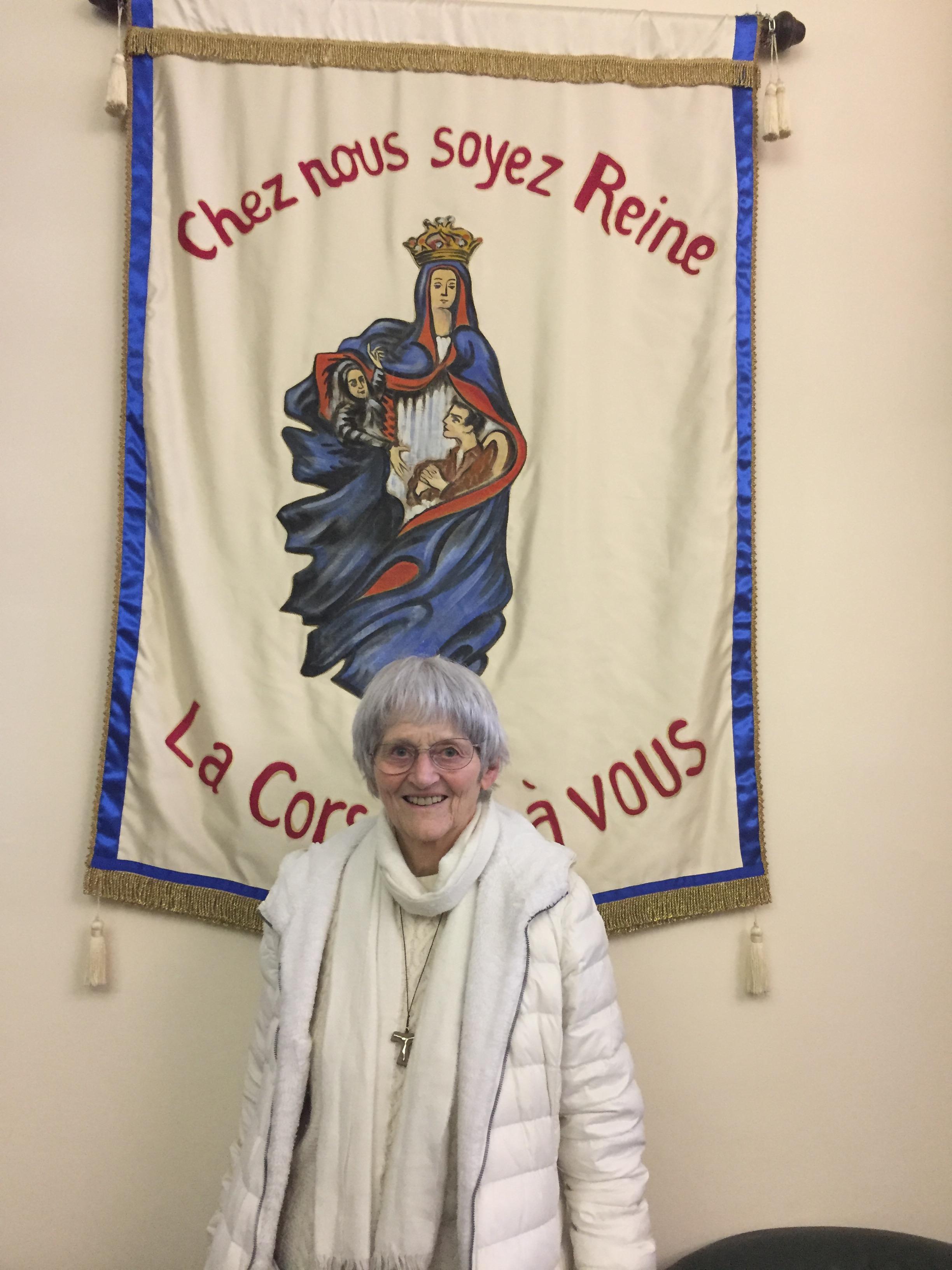Soeur Bernadette Moriau, 70ème et derniere (2018) miraculée de Lourdes.