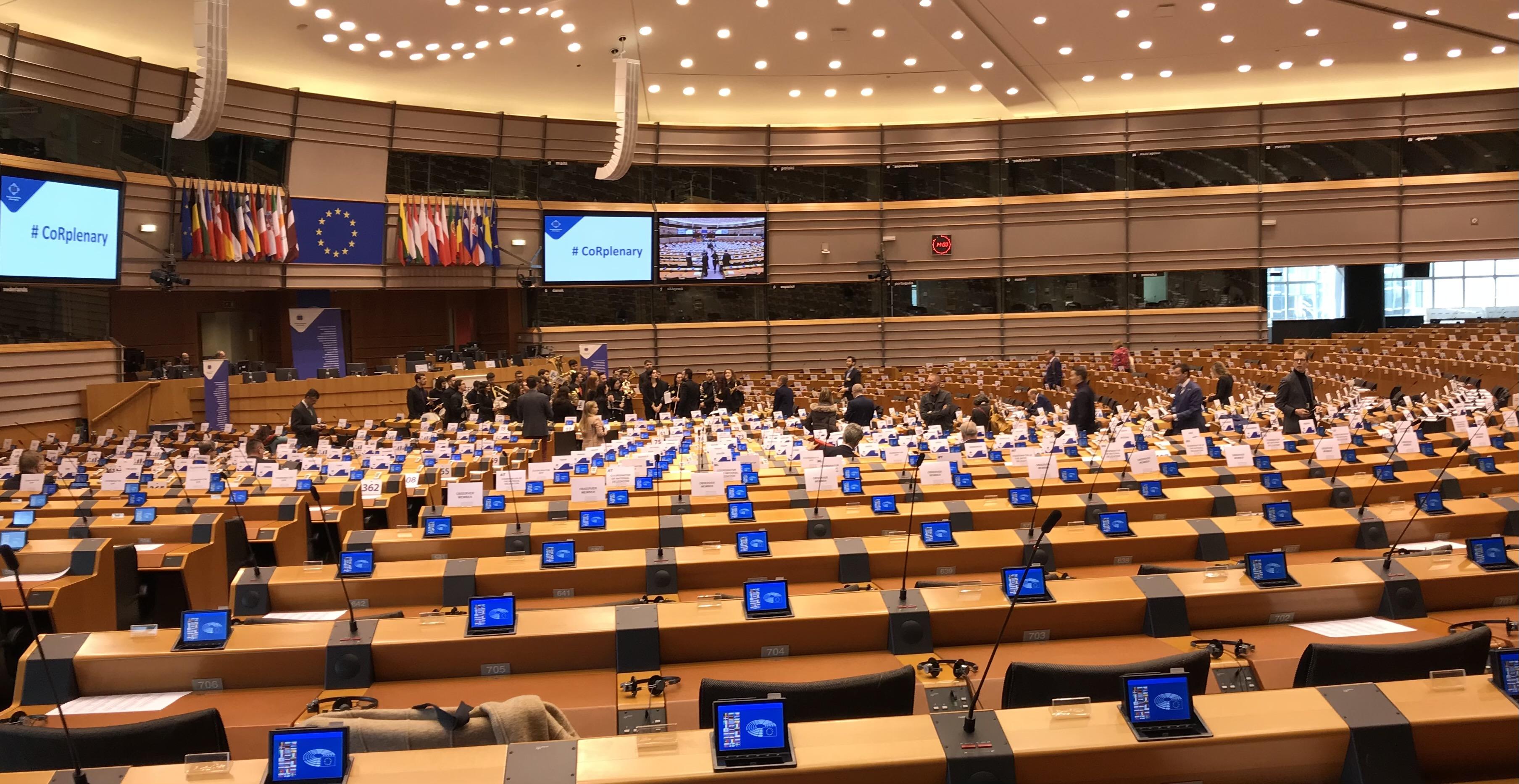 La session plénière du Comité européen des régions à Bruxelles. Photo d'archive.