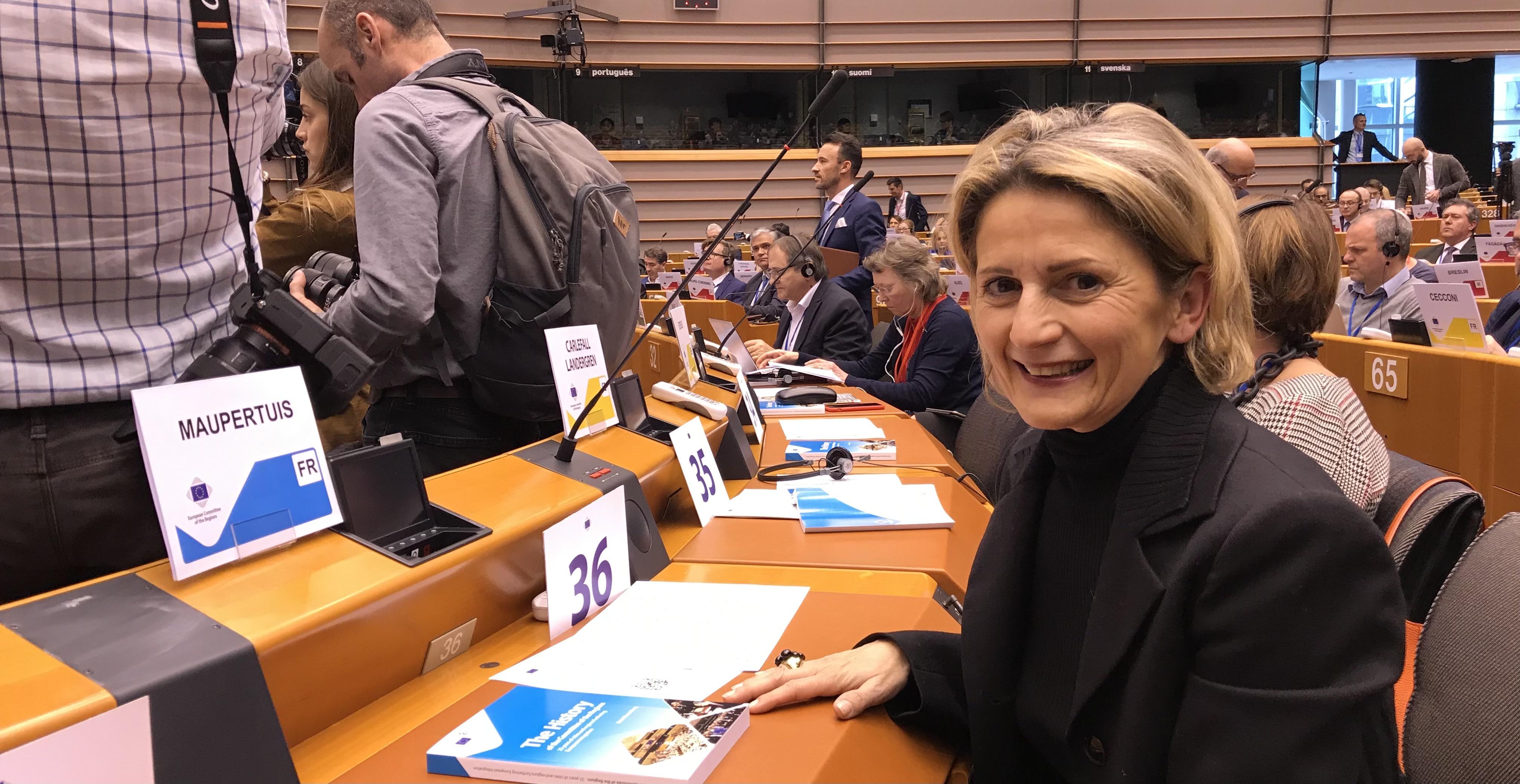 Nanette Maupertuis, conseillère exécutive de Corse en charge des affaires européennes et internationales et vice-présidente de la commission COTER. Photo d'archive.