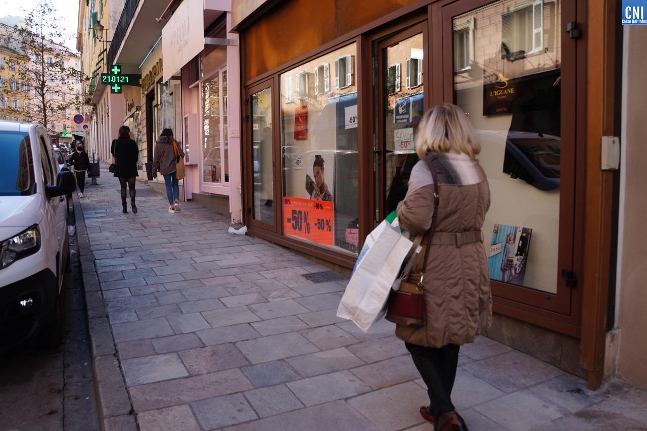Le centre-ville de Bastia ce mois de janvier. Photo Laurent Hérin