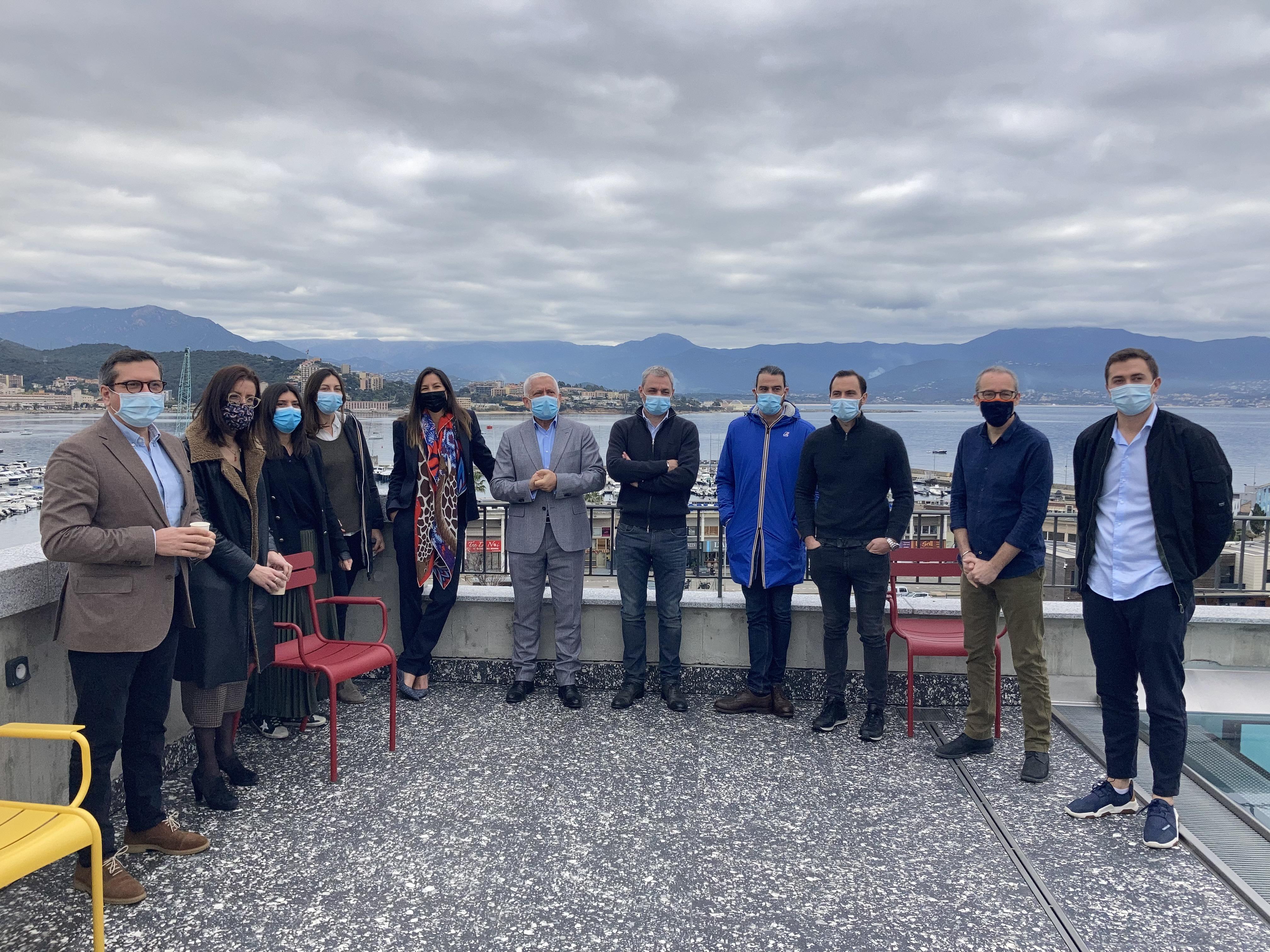 Les créateurs d'entreprise en herbe du programme Pass'Inizià à Ajaccio.