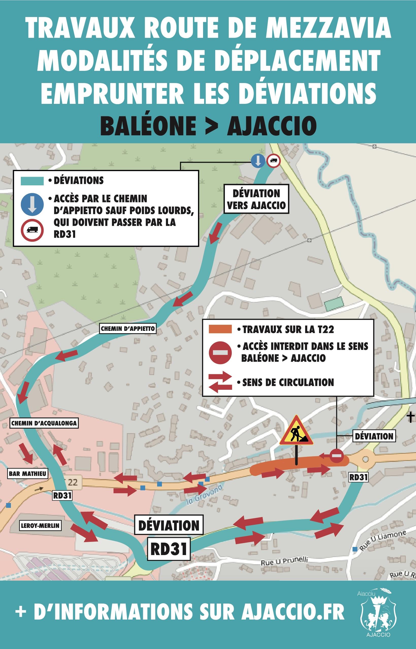 Ajaccio : quinze mois de travaux pour moderniser la traversée de Mezzavia