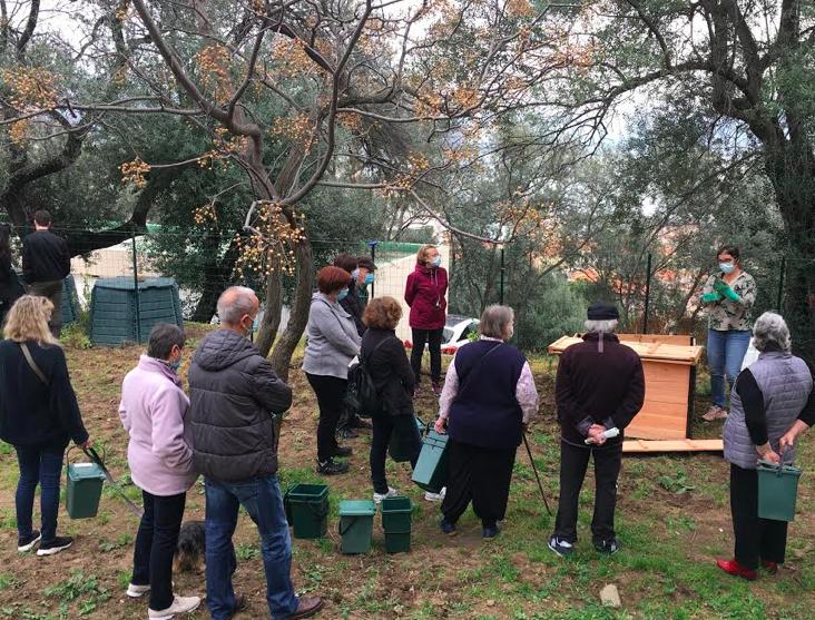 """L'installation d""""un composteur partagé à la Résidence le Belvédère à Ajaccio"""