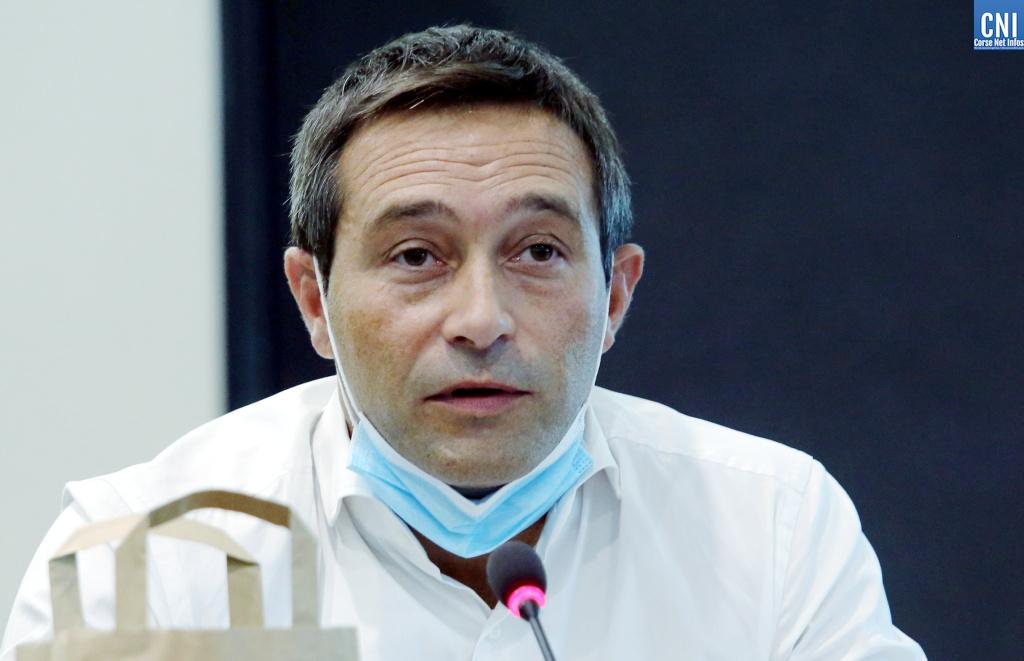 Jean-François Casalta tête de la liste Pà Aiacciu (photo Michel Luccioni)