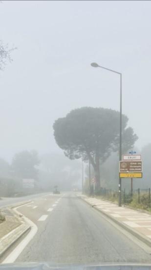 La visibilité était quasi nulle ce matin à Calvi