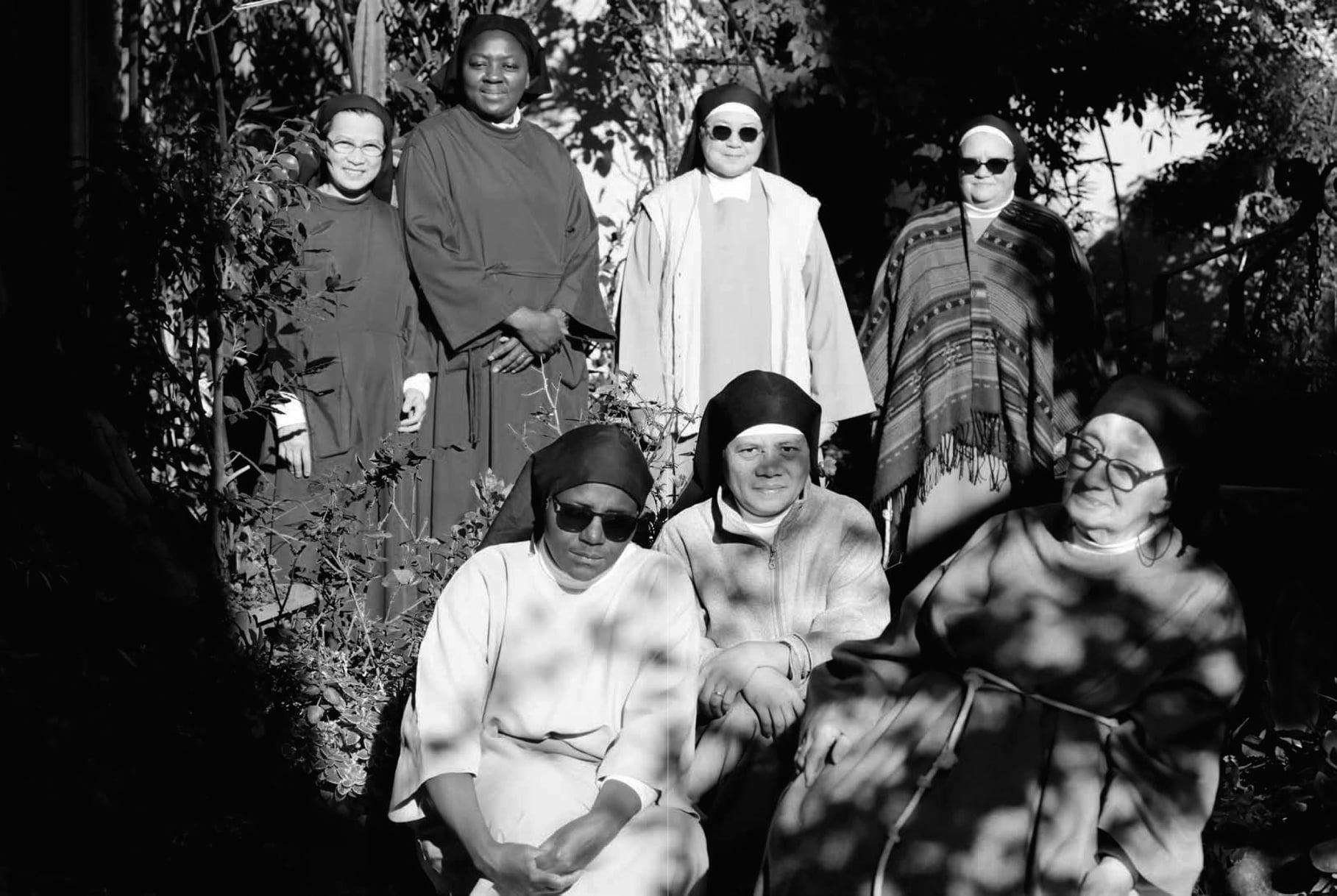 Les sept sœurs clarisses du monastère de Sainte Claire de Bastia. Crédits Photo : Rita Scaglia