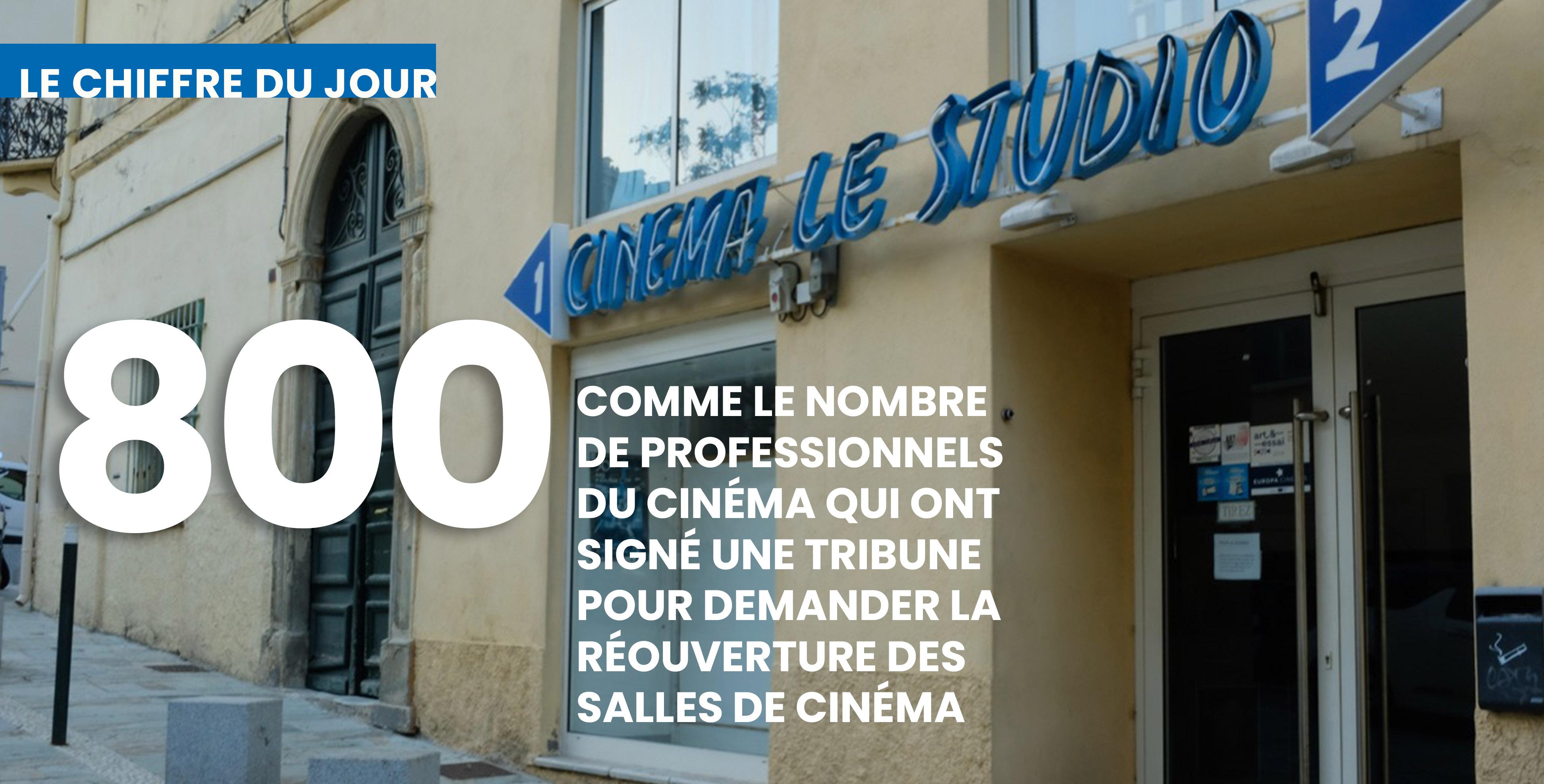 Les signataires dénoncent la fermeture des salles. Ici, les 2 salles du Studio à Bastia, fermées depuis des mois