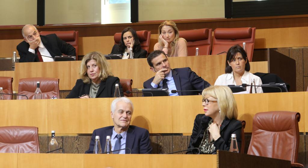 Le groupe de droite Per L'Avvene. Photo Michel Luccioni.