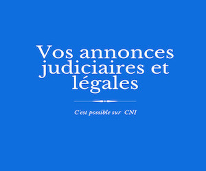 Les annonces judiciaires et légales de CNI : JADE DISTRIB