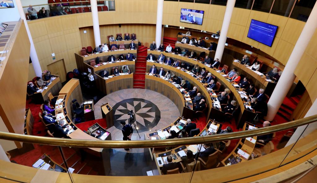 L'hémicycle de l'Assemblée de Corse. Photo Michel Luccioni.