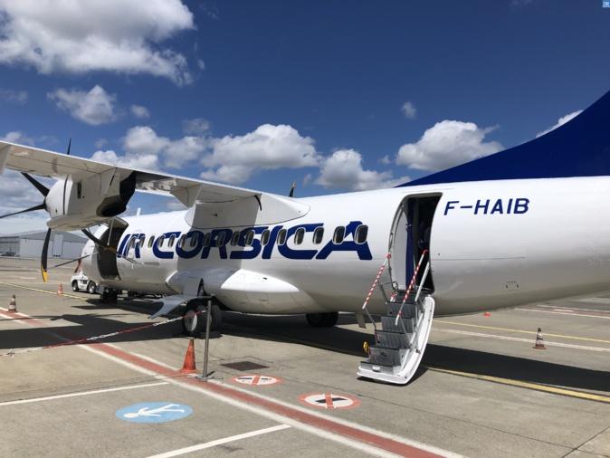 Pas d'avions bondés pour rejoindre la Corse malgré le confinement nouvellement instauré en Île-de-France. Crédits Photo : Michel Luccioni