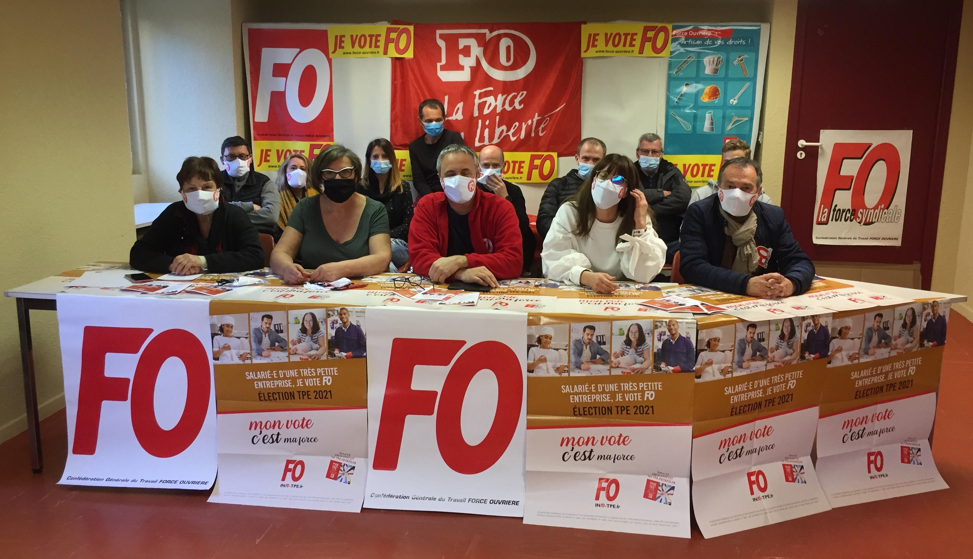 L'UD FO de Haute-Corse se mobilise pour les élections dans les TPE
