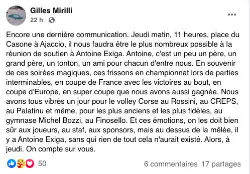 Capture d'écran du groupe Facebook « Fan Club Antoine EXIGA !! ».