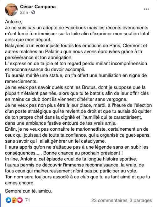 Captures d'écran du groupe Facebook « Fan Club Antoine EXIGA !! ».