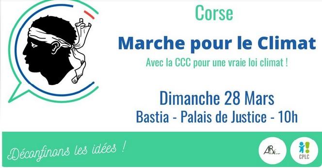 """Bastia : une marche """"pour une vraie loi climat"""" le dimanche 28 mars 2021"""
