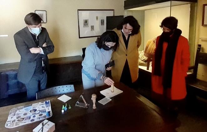 Josepha Giacometti au musée de Merusaglia.