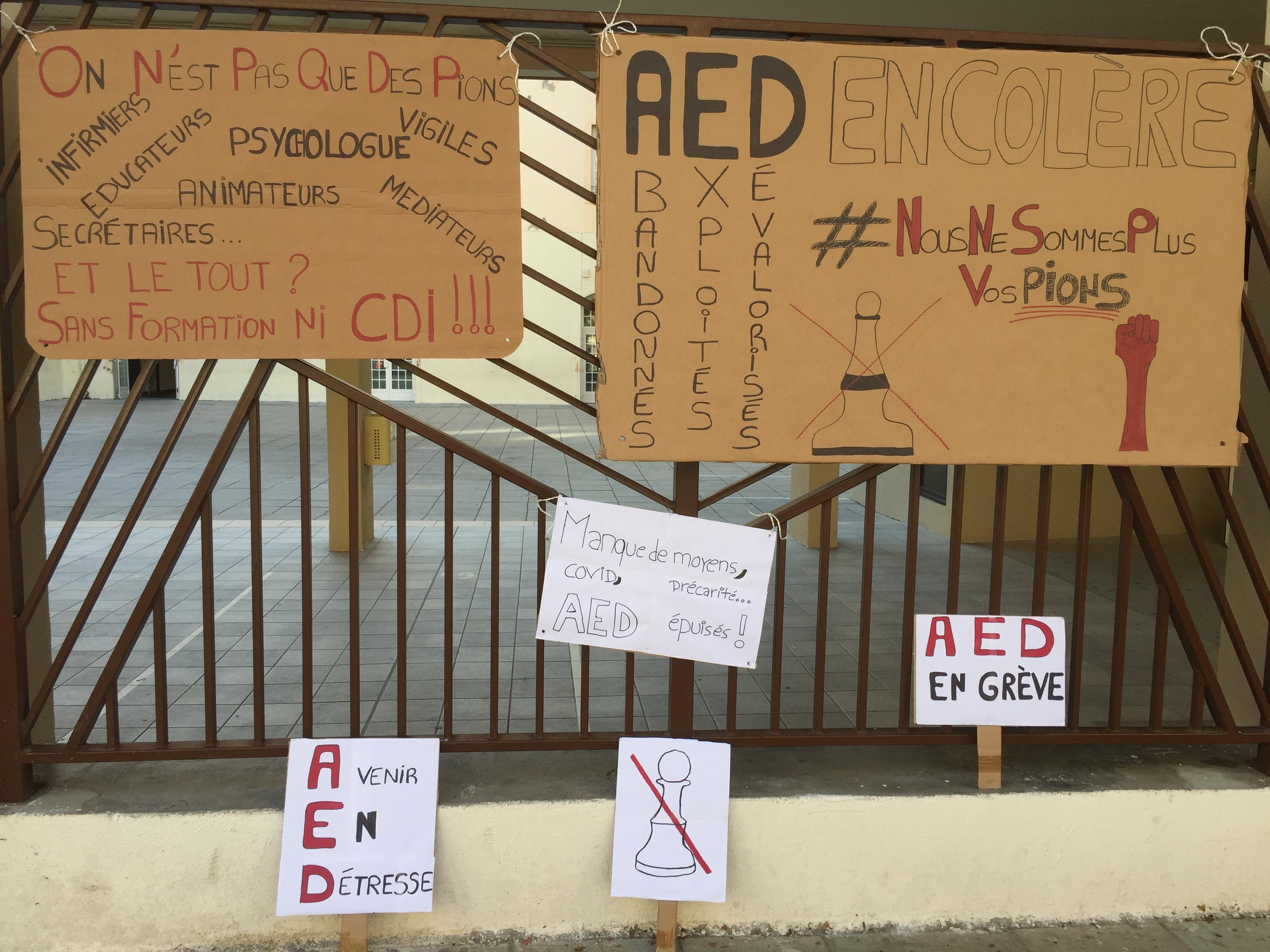 Les assistants d'éducation de Haute-Corse de nouveau dans la rue