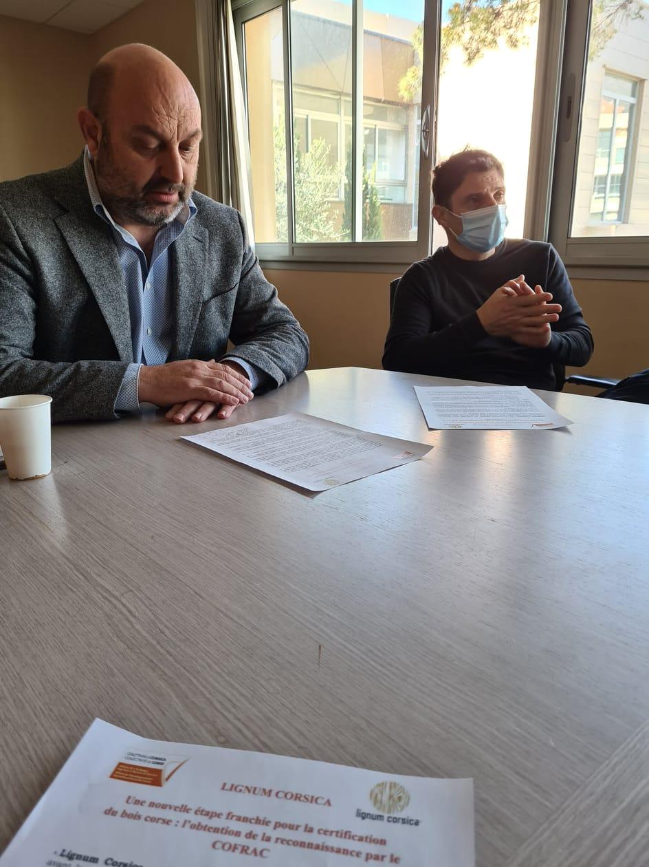 Lionel Mortini, président de l'ODARC et Yves Conventi, directeur adjoint du développement à l'ODARC. Crédits Photo : Pierre-Manuel Pescetti