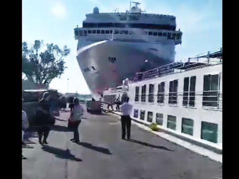 Capture écran de l'accident de 2019 à Venise © DR