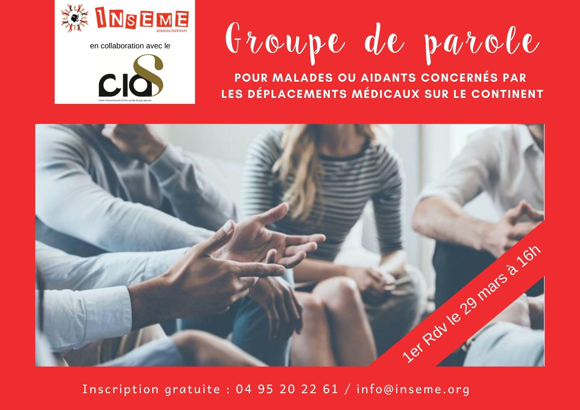 L'association Inseme lance des groupes de parole tous les derniers lundis du mois, à Ajaccio. Illustration : Inseme