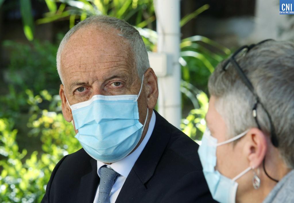 Le préfet de Corse Pascal Lelarge a tenu une conférence de presse au lendemain des annonces du président de la République. Photo : Michel Luccioni