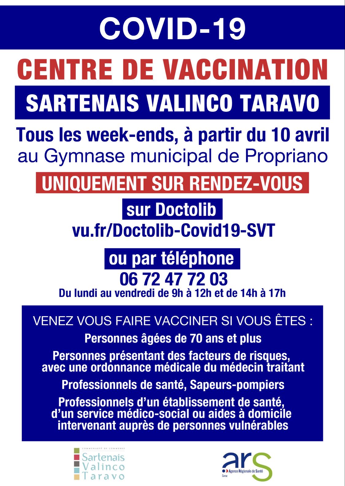 Covid-19 : La campagne vaccinale s'accélère dans le Sartenais-Valinco-Taravo