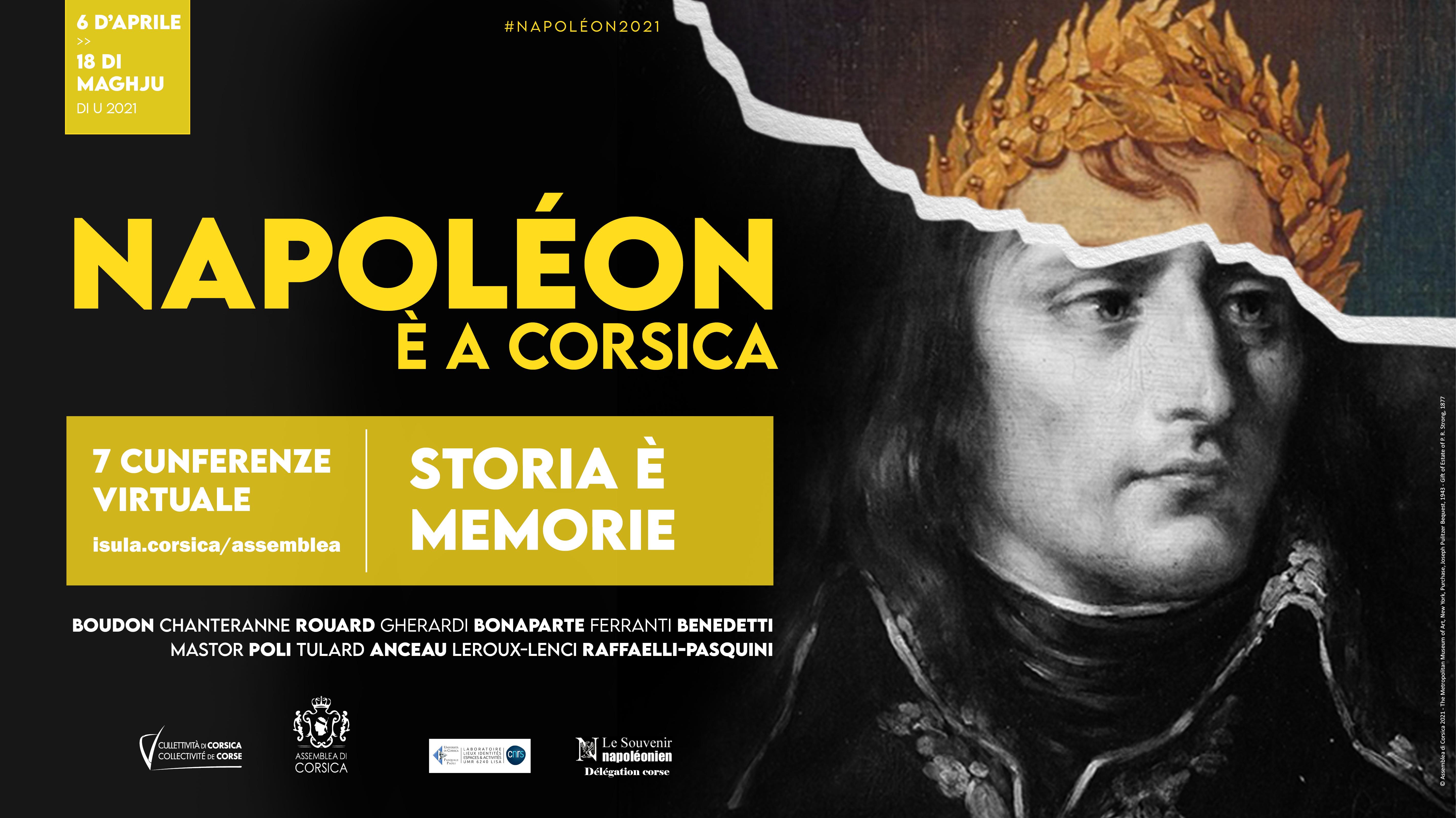 """""""Napoléon et la Corse : un cycle de conférences inédites sur la page facebook et le site internet de l'Assemblée de Corse"""