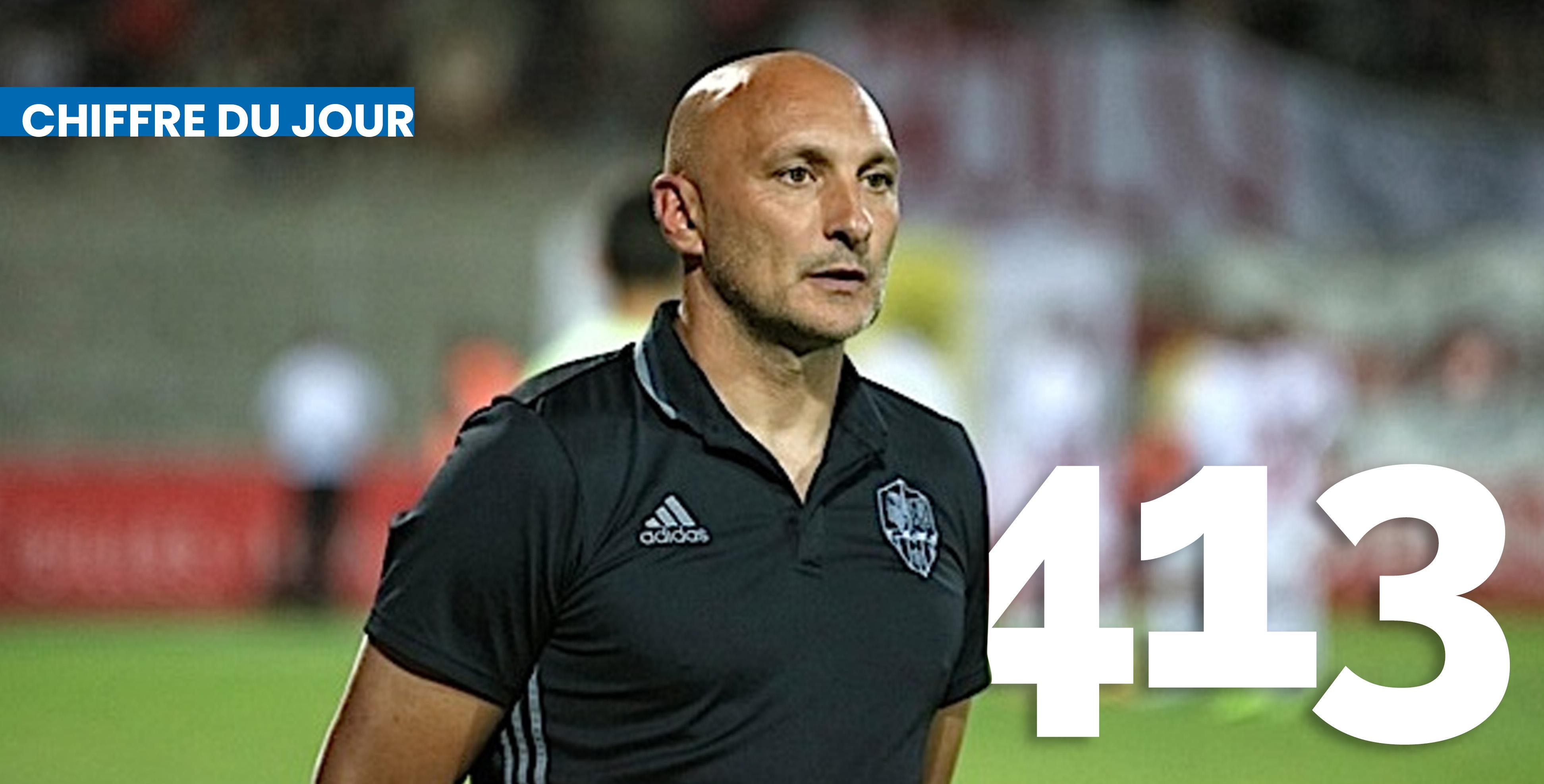 413 comme le nombre de matchs à la tête de l'ACA pour le coach Olivier Pantaloni
