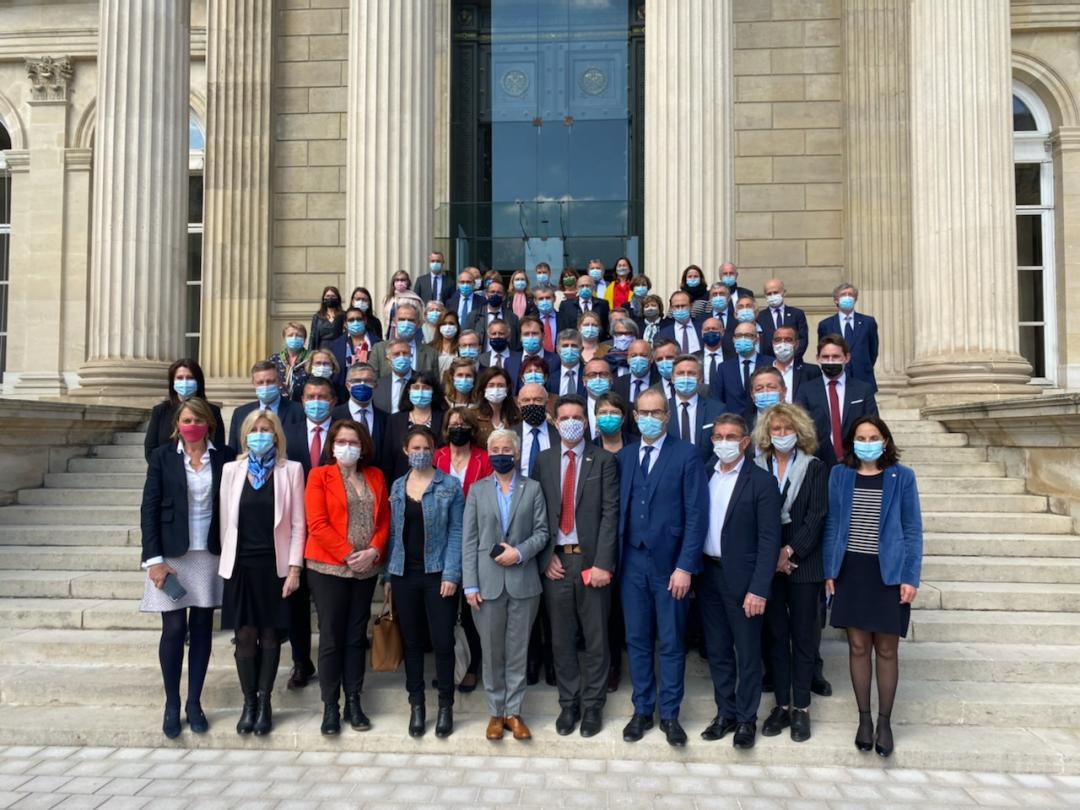 les députés qui, autour de Paul Molac, ont défendu la loi sur la protection patrimoniale des langues régionales.