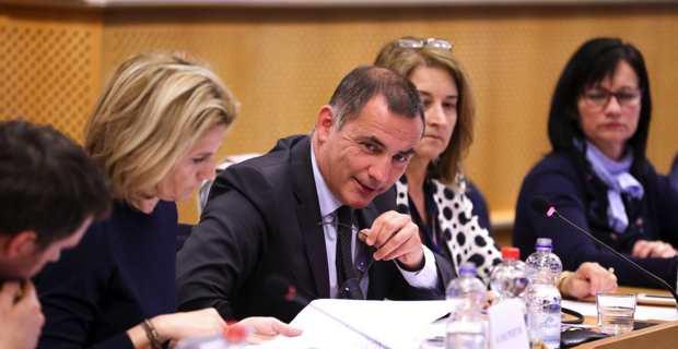Nanette Maupertuis et Gilles Simeoni à Bruxelles. Photo CNI.