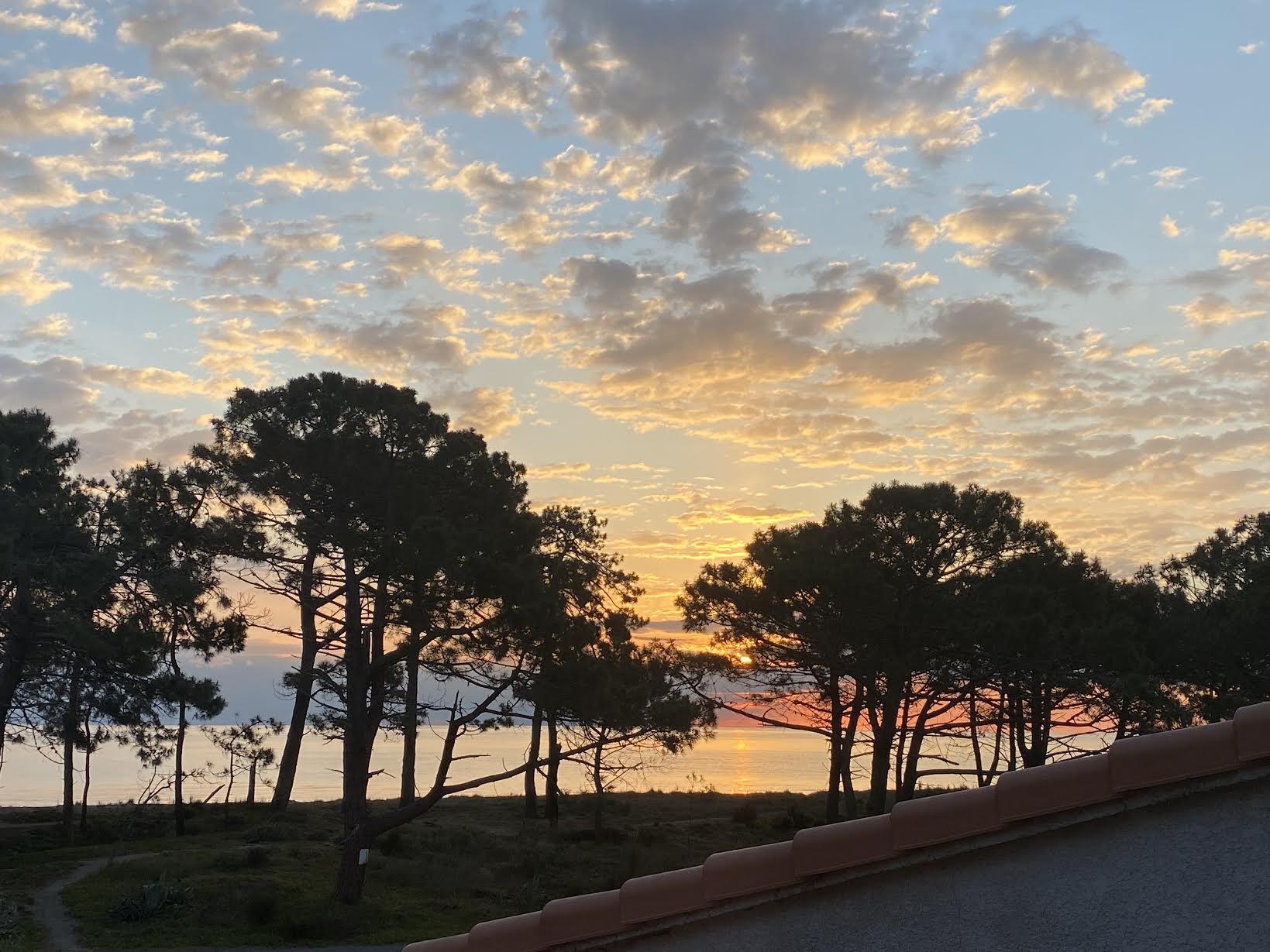 La photo du jour : lever de soleil sur le lido de La Marana