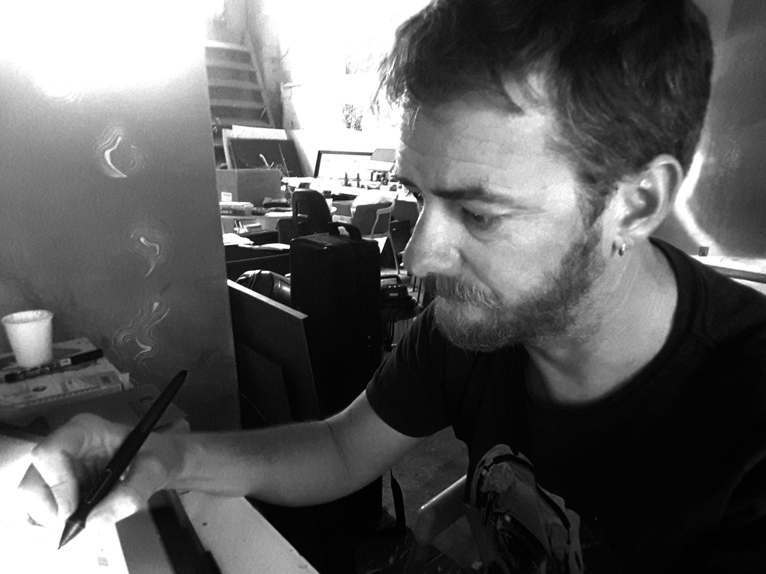 Yann Le Borgne dans son « étrange » Atelier