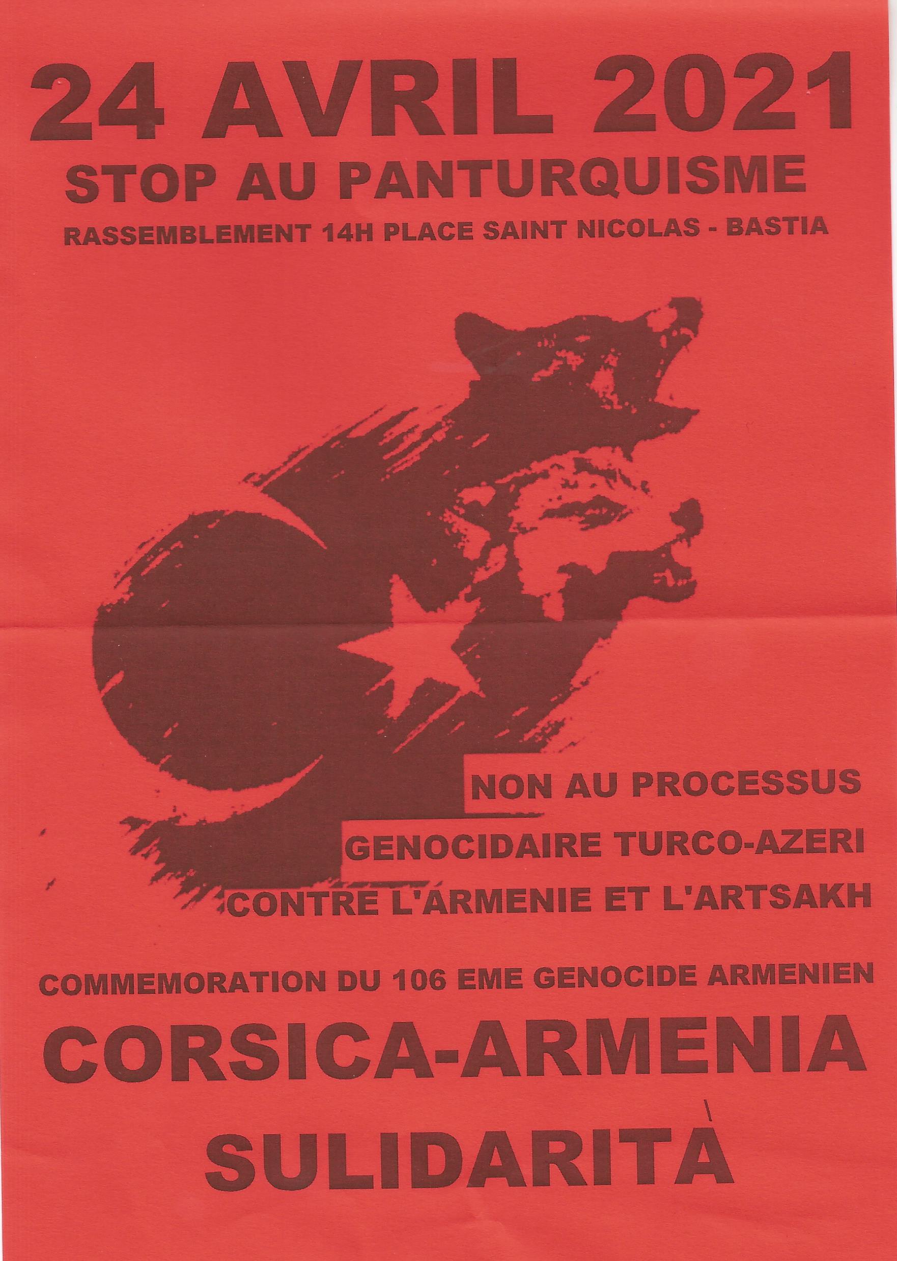 Génocide arménien : une commémoration le samedi 24 avril à Bastia