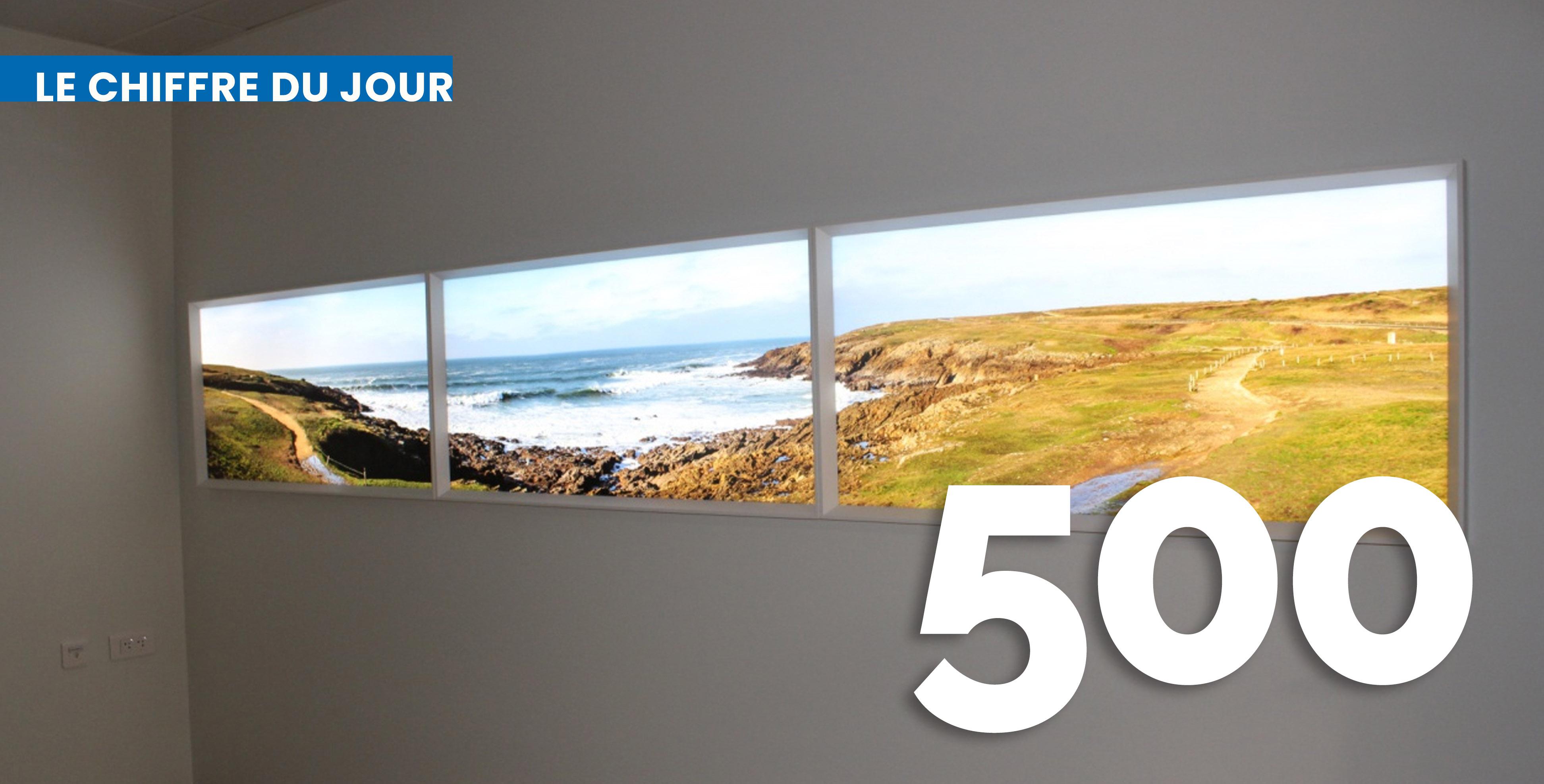 Les nouvelles salles de naissance proposent aussi des des écrans panoramiques avec des images de paysages apaisants