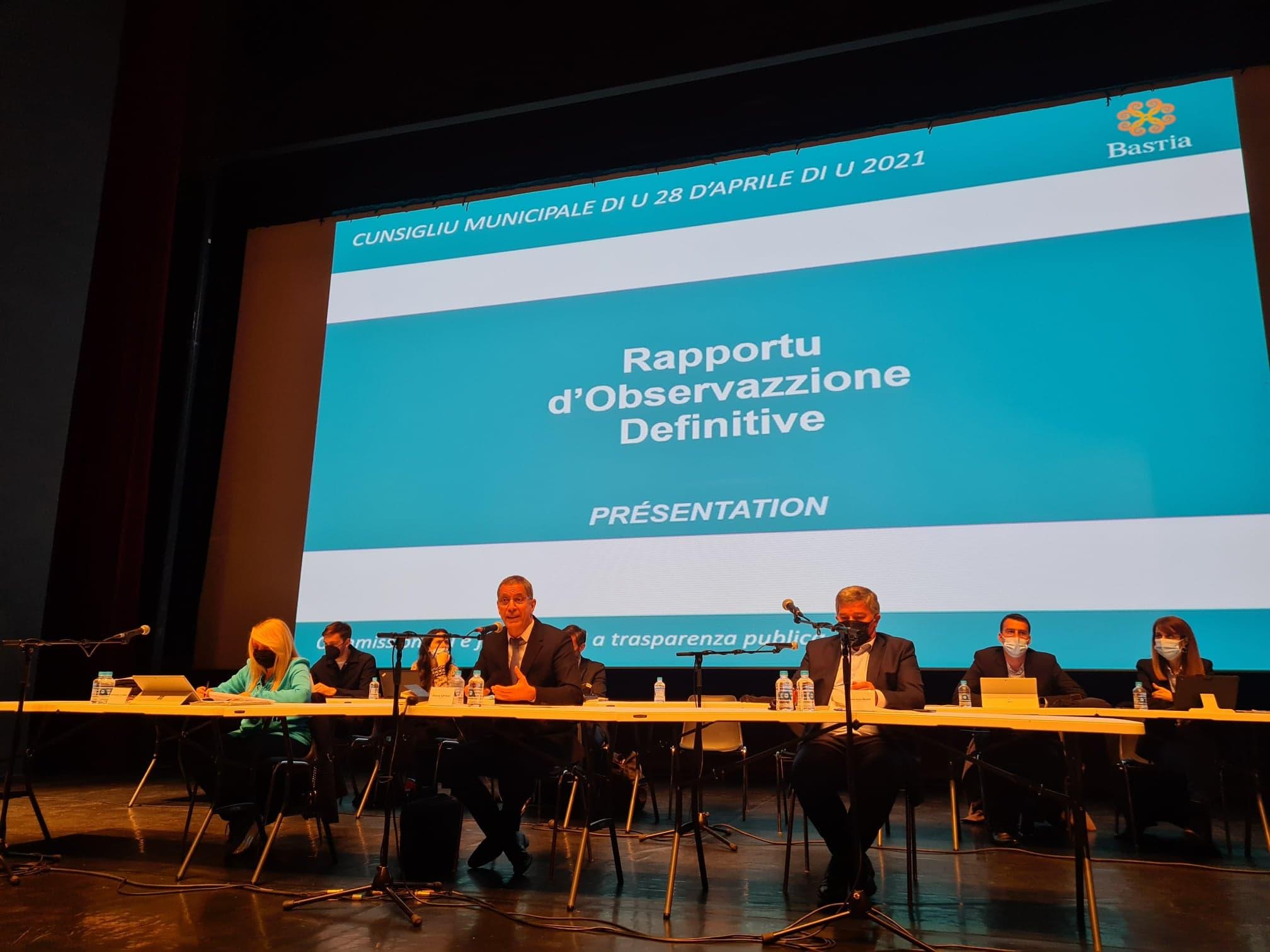 Pour cette session exceptionnelle, le conseil municipal s'est tenu au théâtre de Bastia. (Photo Pierre-Manuel Pescetti)