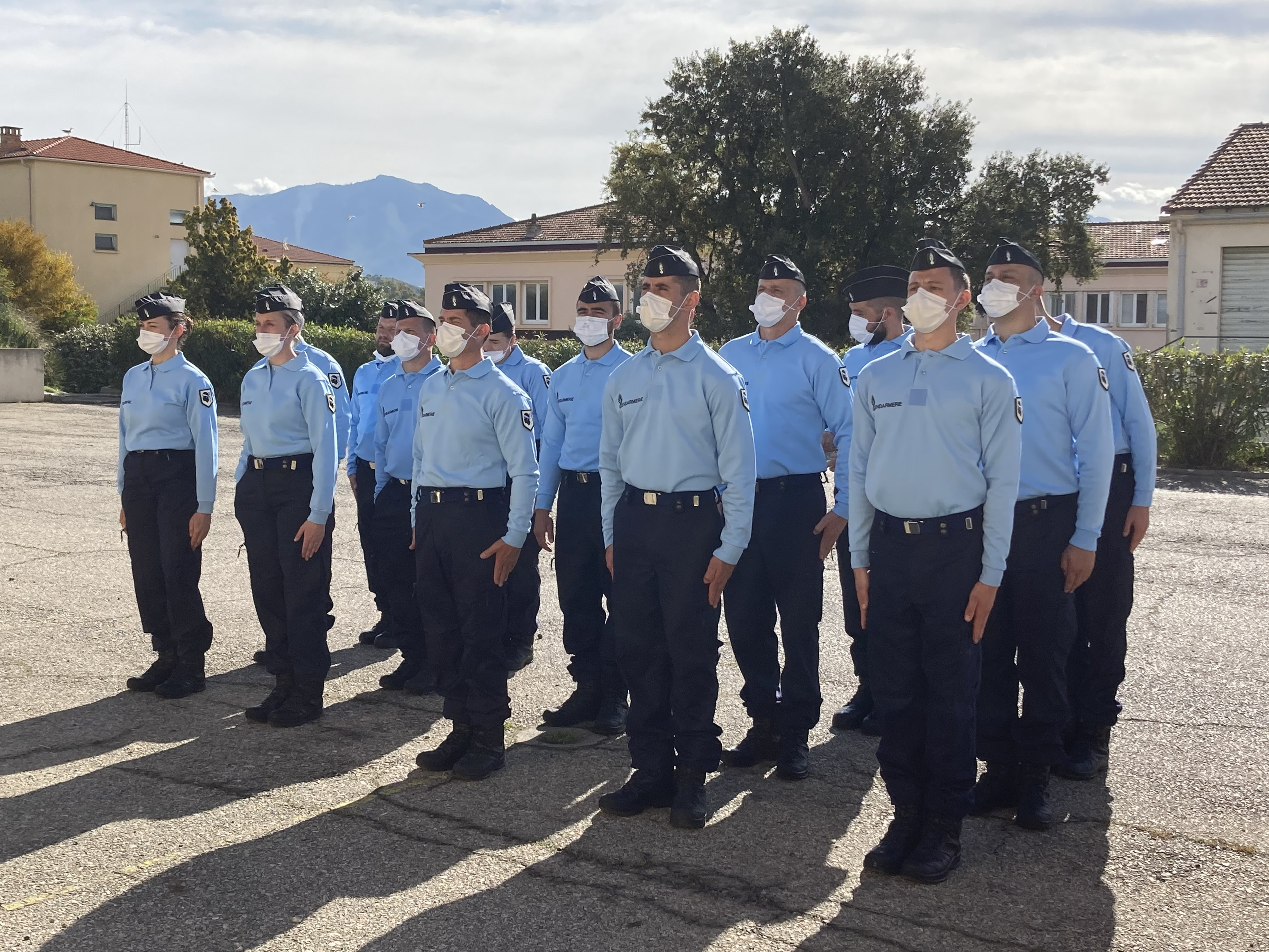 16 nouveaux réservistes pour la gendarmerie de Corse. (Photo Julia Sereni)
