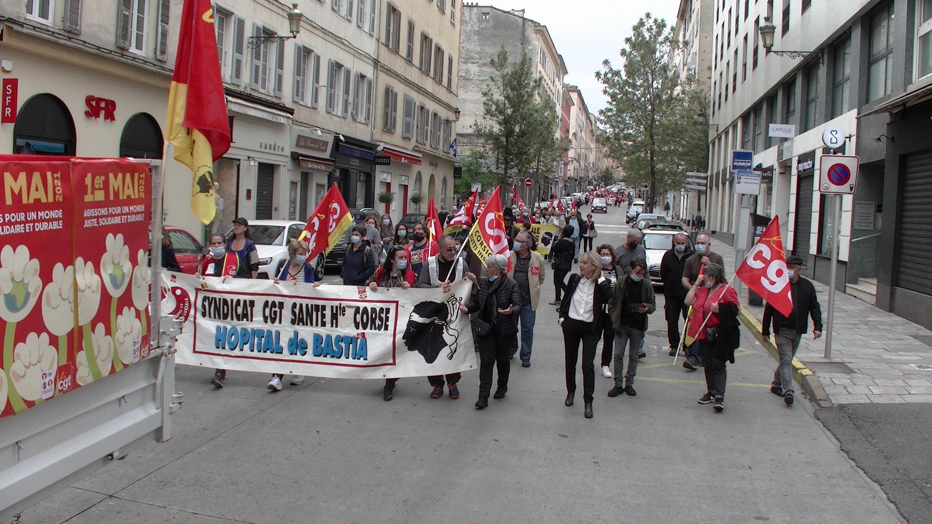 1er mai : environ 250 personnes dans les rues de Bastia