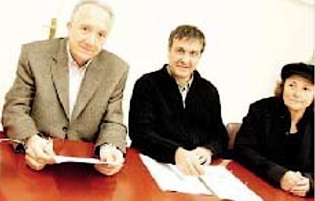 Paule Graziani (à droite) en compagnie de Francis Riolacci et de Michel Stefani (DR)