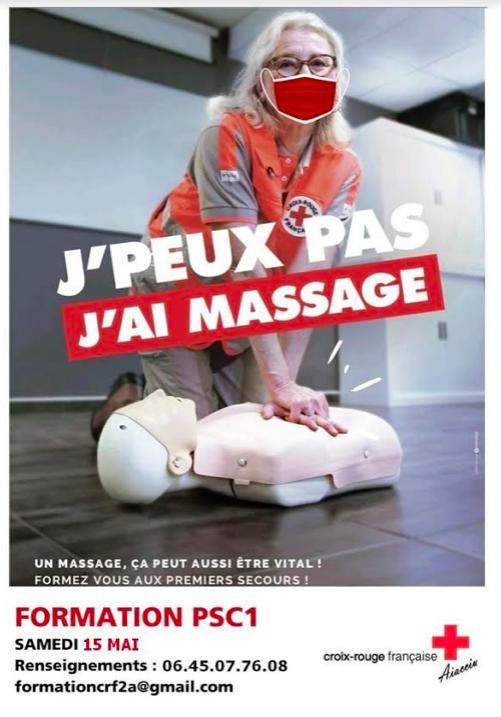 Ajaccio : La Croix Rouge organise une formation aux Gestes de Premiers Secours le samedi 15 mai