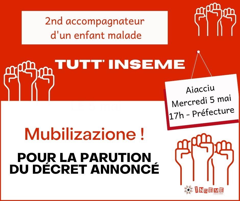 La mobilisation débutera à 17 heures devant la préfecture d'Ajaccio.