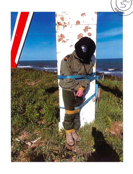 Le pilote de chasse victime d'un bizutage violent en mars 2019.