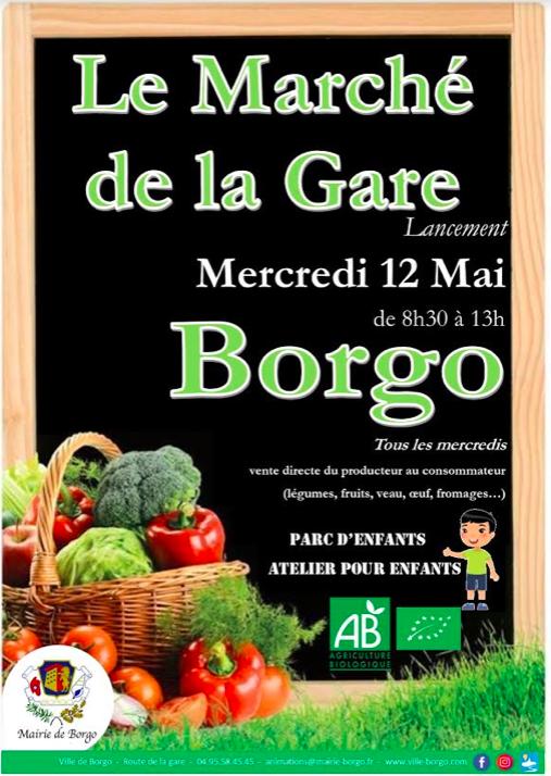  La ville de Borgo ouvre ce mercredi 12 mai  son marché des producteurs