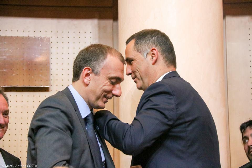 Jean-Christophe Angelini et Gilles Simeoni au temps de l'union de Femu a Corsica. Photo M.L.