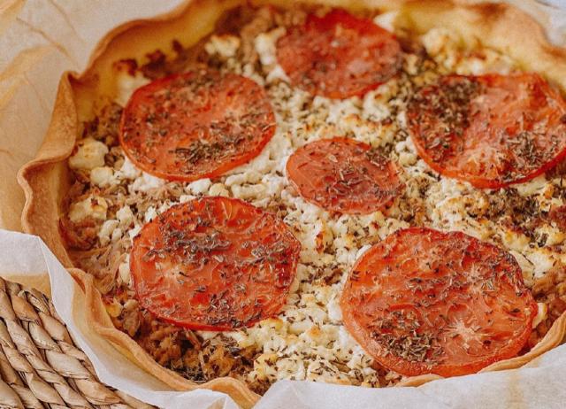 A table : tarte au thon avec La petite cuisine de Marie